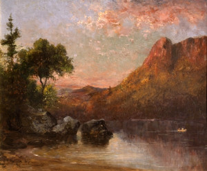 Profile Lake and Eagle Cliff, Evening by Sylvester Phelps Hodgdon