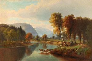 Mount Washington from the Saco River, North Conway by Benjamin Champney